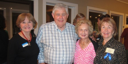 From the left:   Nancy Clark, Jim Ball, Wendy Ball and Gladys Kofalt