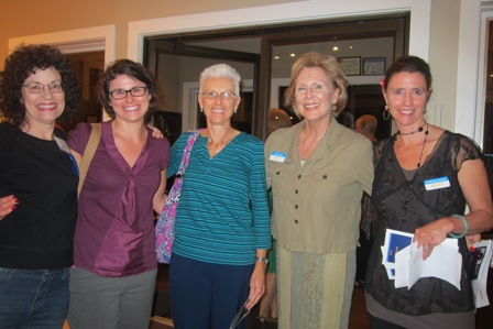 From the left:  Mary McKinney, Caroline Bishop, Karen Macomson,  Andrea Rock and Kimberly Rosario Sanchez