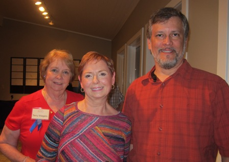 From the left:   Terry Wiegers, Bonnie O'Neill and Eduardo Sanchez