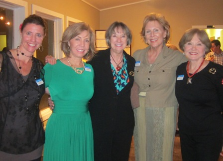 From the left:  Kimberly Rosario Sanchez, Meg Gresham, Dana Postiglioni,  Andrea Rock and Nancy Clark
