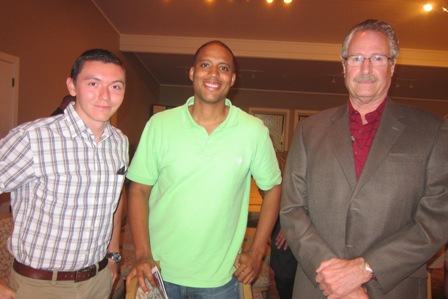 From the left:  Chris Lee, Dr. Leon Coleman and Jeff Miller