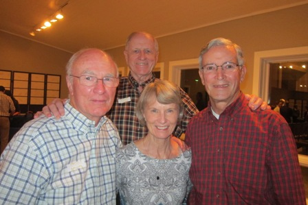 From the left:  Bob Drake, Paul Olsen, Mary and Ben Proctor