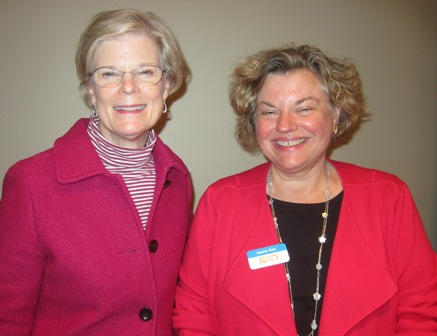 From the left:  Mary Lou Drake and Laura Cox
