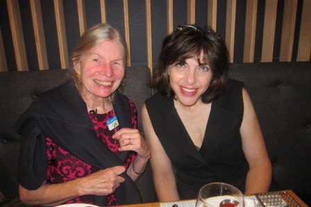 From the left:  Dr. Laura Gutman and Diana West