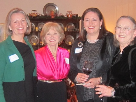 From the left:   Lee Anne McClymont, Nancy Clark, ICON board member, Madonna Whelan and Evelyn Kober Poole
