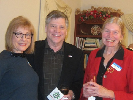 From the left:  Marlene Waller, Larry Beckler and  Dr.  Laura Gutman, ICON board member