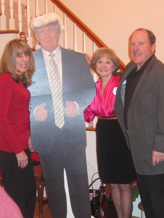 From the left:  Karim Nemitz, Donald Trump, Nancy Clark, and Leo Nemitz