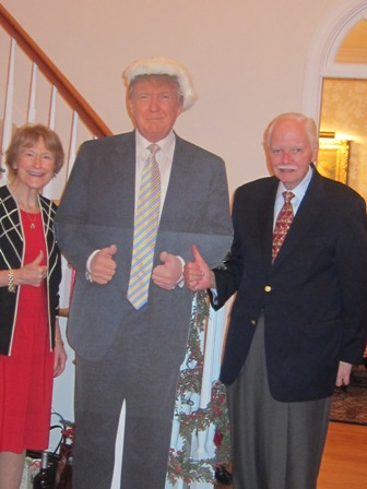 "Milada and Joe Williamson with ""The Donald"""