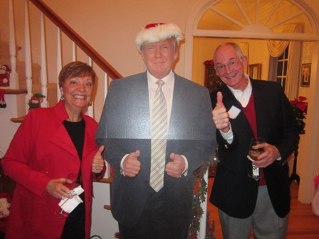 "Cathy and John Wright with ""The Donald"""