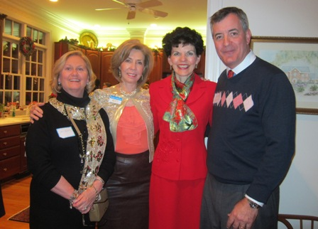 From the left:  Jane Hogan, ICON Advisory Board member, Meg Gresham, ICON Board, Betty Ann Guidry, ICON Board Treasurer and Guy Guidry