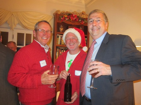 From the left:  Dr. Steve Bishop, Mark Cares (holding his homemade beer)  and Bill McClymont