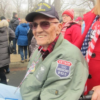 Vietnam Veteran who came to the inauguration in his wheelchair
