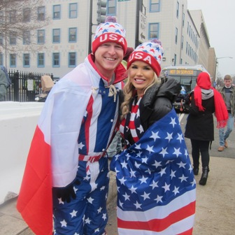 A lot of young people were at the inauguration.  Guess the leftist universities failed with this couple !!!