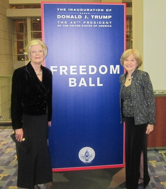 From the left:  Mary Lou Drake and Nancy Clark