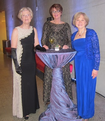 From the left:  Mary Lou Drake, Mary Jo Copolloa, and Nancy Clark