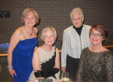 From the left:  Nancy Clark, Mary Lou Drake, Virginia Foxx, Representative, District 5 and Mary Jo Coppolla
